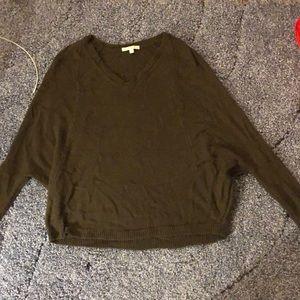 AE army green sweater
